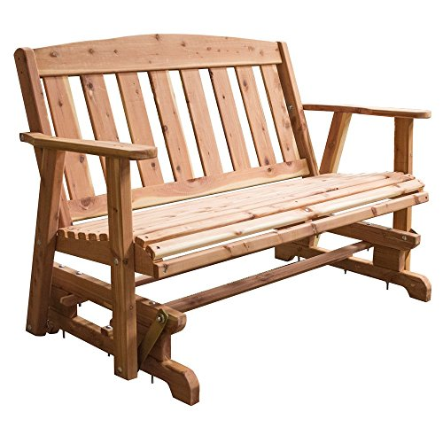 AmeriHome USA Amish Made 52 in. Cedar Glider (Cedar Glider Bench)