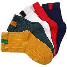 Nosii 5 Pairs Baby Kids Socks Multicolor Style Sock for Children Boy Girl 1-11 Years