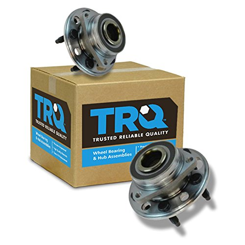 TRQ Wheel Hub & Bearing Assembly Pair Set of 2 for Buick Chevy GMC Saab