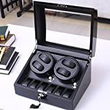 2017 Watch Winders Storage Display Box Case Organizer Jewellery Wristwatch with Cushion Watches drawer Watches for Men High Grade Luxurious Cover Box/Jewelry Drawer (electric motor shaking) 05 , black