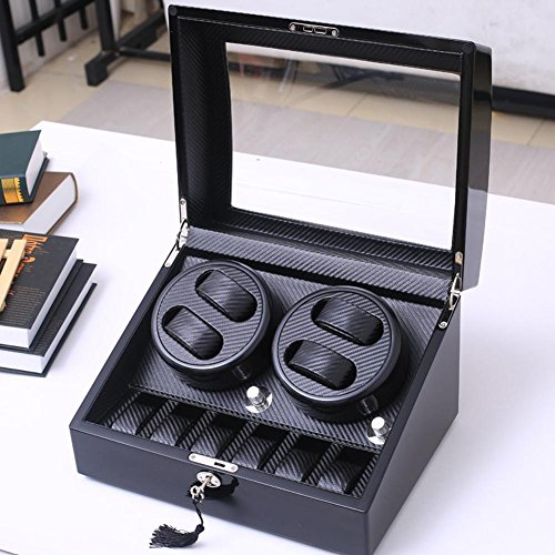 KAIHE-BOX Watch Winders Storage Display Box Case Organizer Jewellery Wristwatch with Cushion Watches drawer Watches for Men High Grade Luxurious Cover Box/Jewelry Drawer (electric motor shaking) 05 by KAIHE-BOX (Image #8)