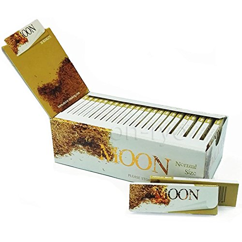 MOON Unbleached Slow Burning Pure Hemp Rolling Paper Cigarette Paper (70mm - 1 box)