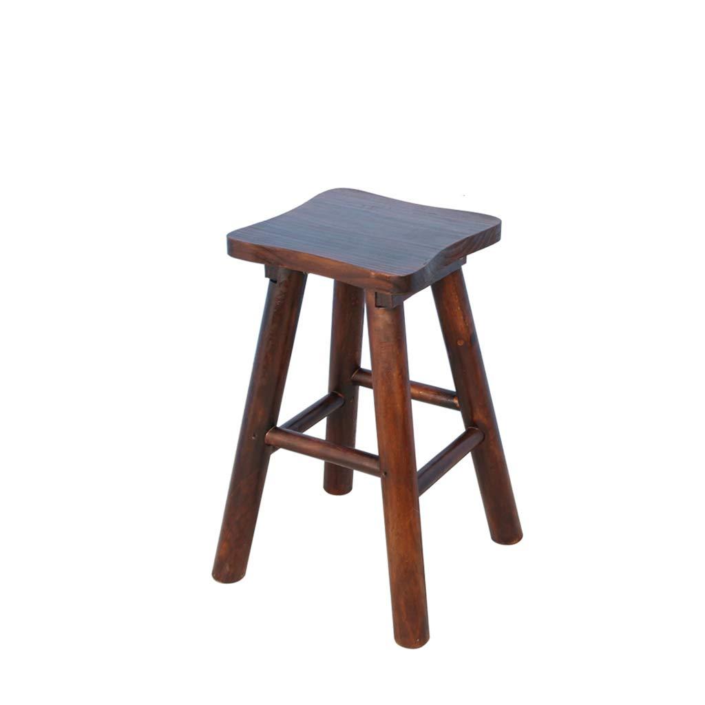 CAO-LIFE Sgabello Quadrato in Legno Massello, Sgabello per Sedie Portatile Sgabello da Bar con Sedile in Legno, Divano da Giardino Anticorrosione (Dimensioni   65cm)