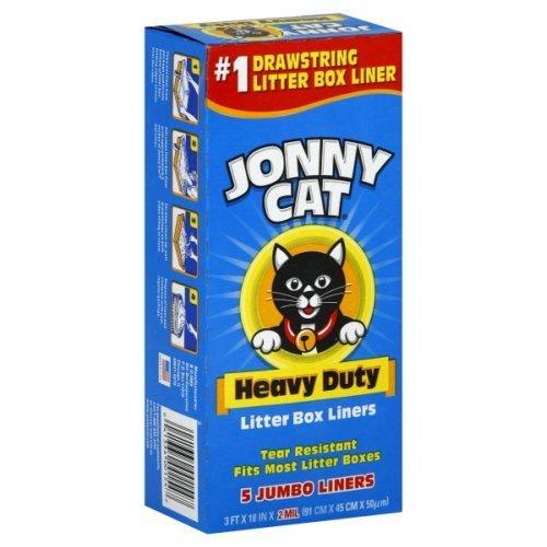 51nWlfau6ML - Jonny Cat Cat Litter Box Liners 5 per Box