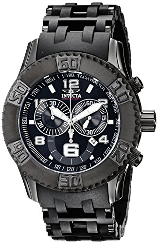 Invicta Men's 6713 Sea Spider Collection Chronograph Black Ion-Plated Stainless Steel Watch