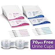 Ovulation Test Strips and Pregnancy Test Kit, 50 LH Ovulation Predictors and 20 Hcg Home Pregnancy Tests with Free 70 Collection Cups, Accurately Track Ovulation and Detect Early Pregnancy