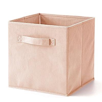 EZOWare Set of 6 Basket Bins Collapsible Storage Organizer Boxes Cube for Nursery Babies Shelves