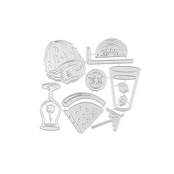 Amazon.com: Troqueles de corte de metal, plantillas de ...