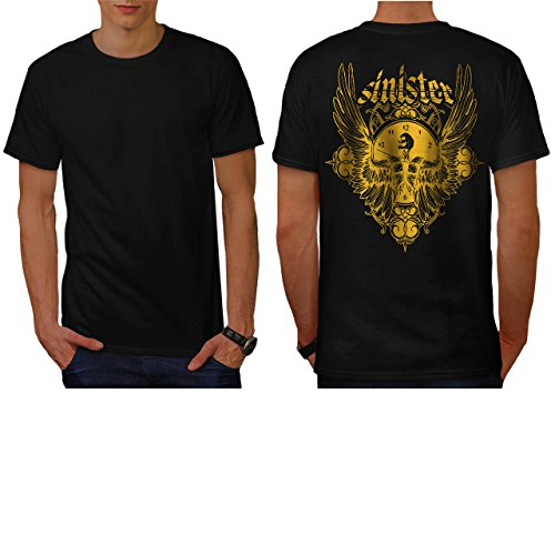 [Sinister Hell Demon Devil Clock Men NEW L T-shirt Back | Wellcoda] (Diablo Reaper Of Souls Costume)