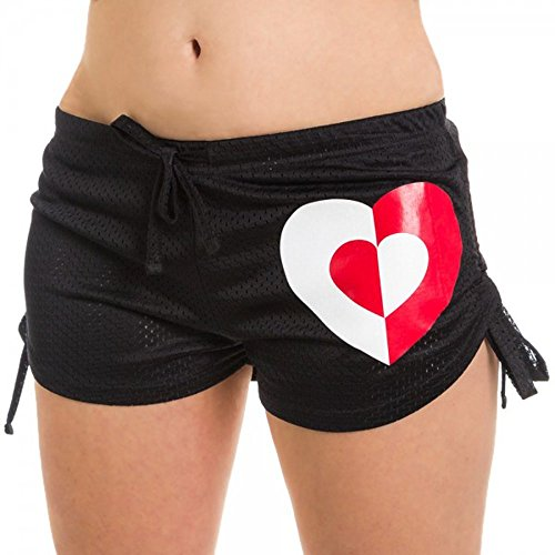 DC Comics Harley Quinn Mesh Womens Booty Shorts (Large) for $<!--$19.99-->
