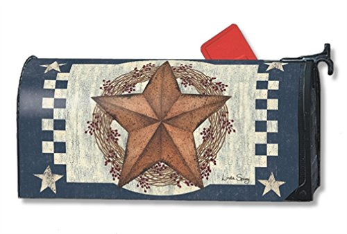 Mailwraps Stars (MailWraps Blue Barn Star Mailbox Cover 01339)