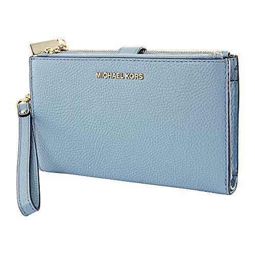 Michael Kors Adele Leather Smartphone Wristlet- Powder Blue