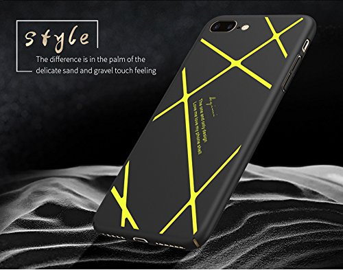 iPhone 7 Funda,iPhone 7Plus Funda,iPhone 6S Funda,Case Cover Patrón de franjas [Silky]Alta Calidad Ultra Slim Anti-Rasguño y Resistente Huellas Dactilares Totalmente Protectora Soft TPU Funda(SJLC3-6) D