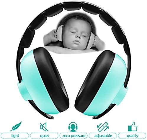 Zoom Time Noise Cancelling Ear Safety Protection Headphones Best Infant Baby Toddler Ear Protection Ages 0-2 Adjustable Headband Sound Cancelling Travel Accessory for Games, Fireworks, Loud Noises