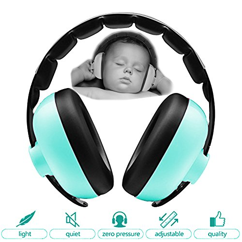 Zoom Time Baby Toddler Safety Noise Cancelling Ear Protection Headphones Travel Safe Best Infant Ear Protection Ages 0-2+ Years Old Adjustable Design Headband Earmuffs Girls or Boys Unicorn Fireworks