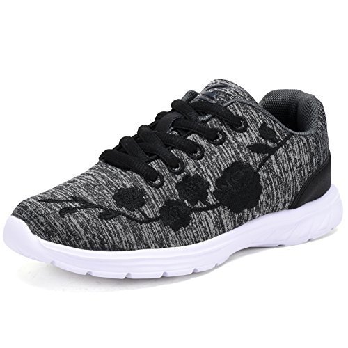 G GEERS OS002 Kids Running Sneakers Little Girl's Fashion Sport Shoes Dark GREY-11