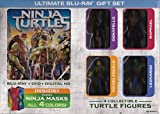 ninja turtles book set - Teenage Mutant Ninja Turtles Blu Ray + DVD + Digital HD Ultimate Gift set with 4 Collectible Figures