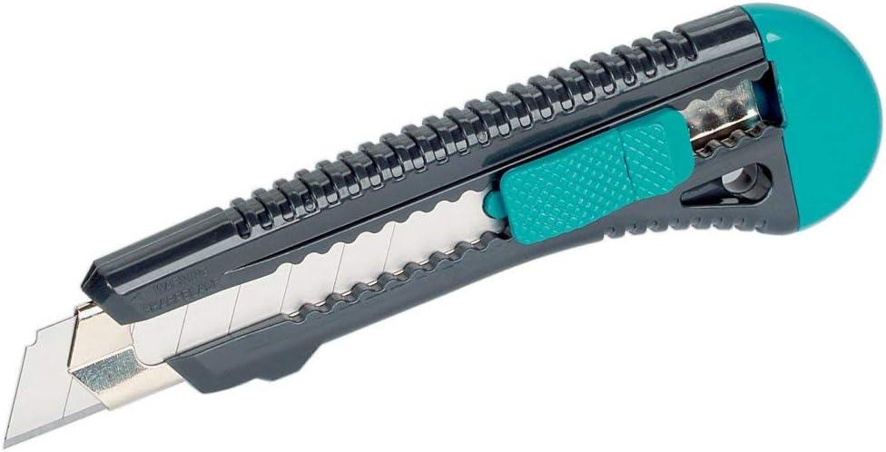 Wolfcraft 4146000 Cúter de cuchillas separables estándar con guía de acero inoxidable y cuchilla de 18 mm