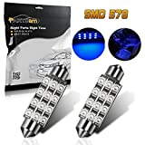 07 silverado interior - Partsam 2x Blue 12SMD LED MAP/DOME INTERIOR LIGHTS BULBS/BULB 42MM FESTOON