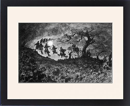 Framed Print Of Witches Ride by Prints Prints Prints