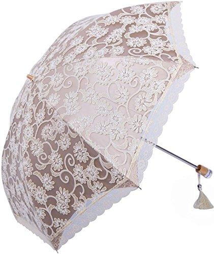 Zero Transmittance Super Prevent Sun Index 50+ Two Folding Ladies Umbrella Thicken Lace Female Parasol Sun Shade Anti-uv