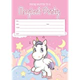 Unicorn birthday invitations with envelopes (10, 15 and 30 count)