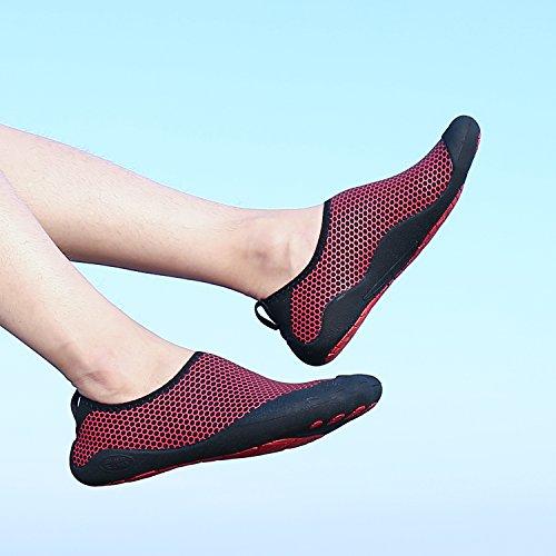 Aqua Damen Socken Herren Fivefinger Sea Barefoot Schuhe Surf Swimming Beach red Wasser katliu Nasses Pool Pq7Udwq