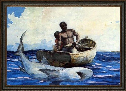 Winslow Homer Shark Fishing - 16.5