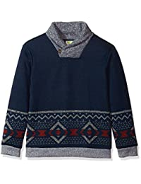 Crazy 8 Boys Little Boys Long Sleeve Shawl Collar Aztec Print Sweater