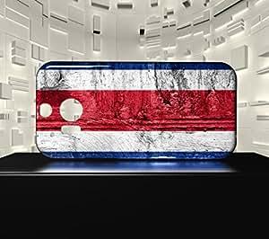 Funda Carcasa para HTC M8 Bandera COSTA RICA 07