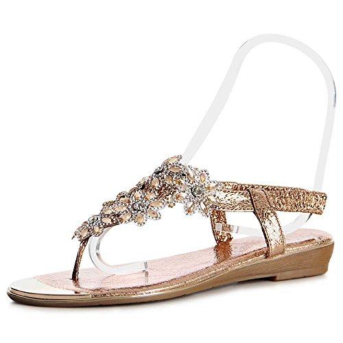 Rose Sandali Topschuhe24 Sandaletti Oro Donna ftBtx5qwO