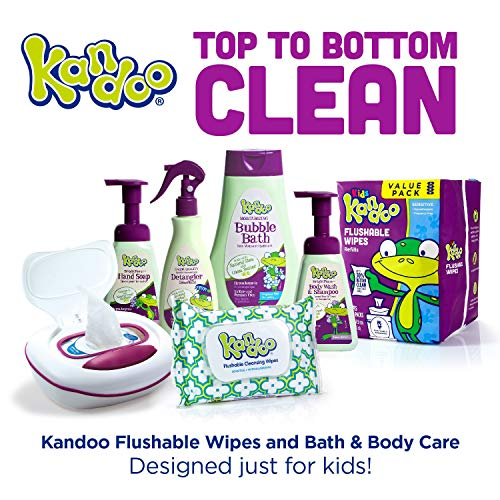Flushable Baby Wipes for Kids, Sensitive by Kandoo, Hypoallergenic Potty Training Wet Cleansing Cloths Refills, Unscented, 250 Count per Pack, Pack of 4 by Kandoo (Image #6)