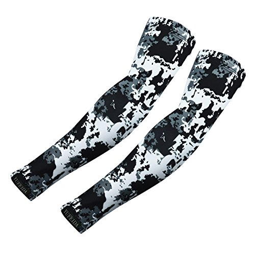 YUFEIDA Arm Sleeves UV Sun Protection Cooling Outdoor Sports Compression Sleeves Arm Warmer Cover Camouflage 1 Pair (Classic Print, OneSize)