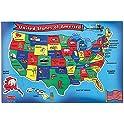 51 -Piece Melissa & Doug USA Map Floor Puzzle