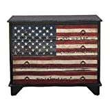 Traditional Styled Hand Painted Lyrics Wood Chest With Finish DS-D153-017