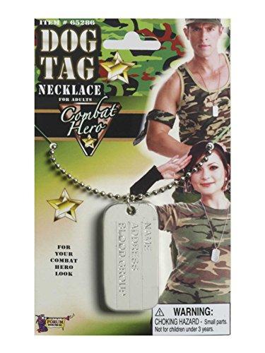 Forum Novelties Army Military Combat Hero Costume Dog Tag Necklace -