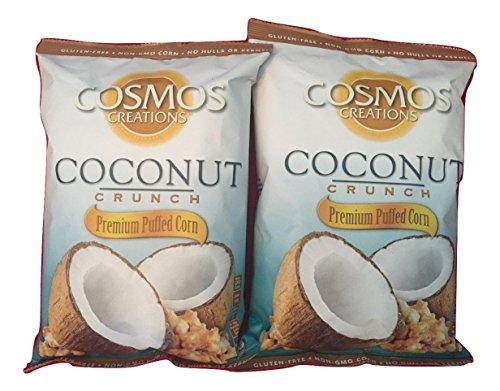 Cosmos Creations Coconut Crunch Premium Puffed Corn   2 Pack