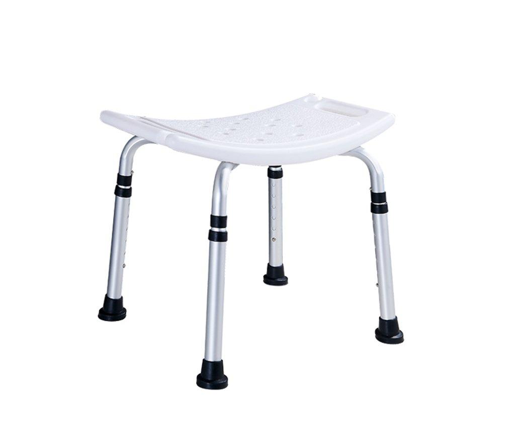 GRJH® バス椅子、高齢者バス椅子妊娠中の女性バス椅子肘掛け付き背もたれアルミ素材バス椅子75x52x28cm 防水,環境の快適さ B0799F8W2W