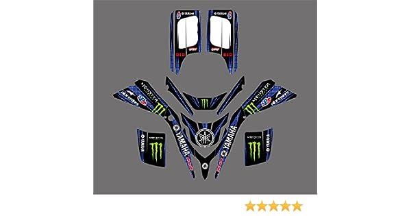 0042 Customized 3M Sticker Motorcross Graphic Motorcycle Decals Stickers Kit for Yamaha Blaster 200 YFS200 YFS 200 1988-2006 ATV Wrap Full Race Kits