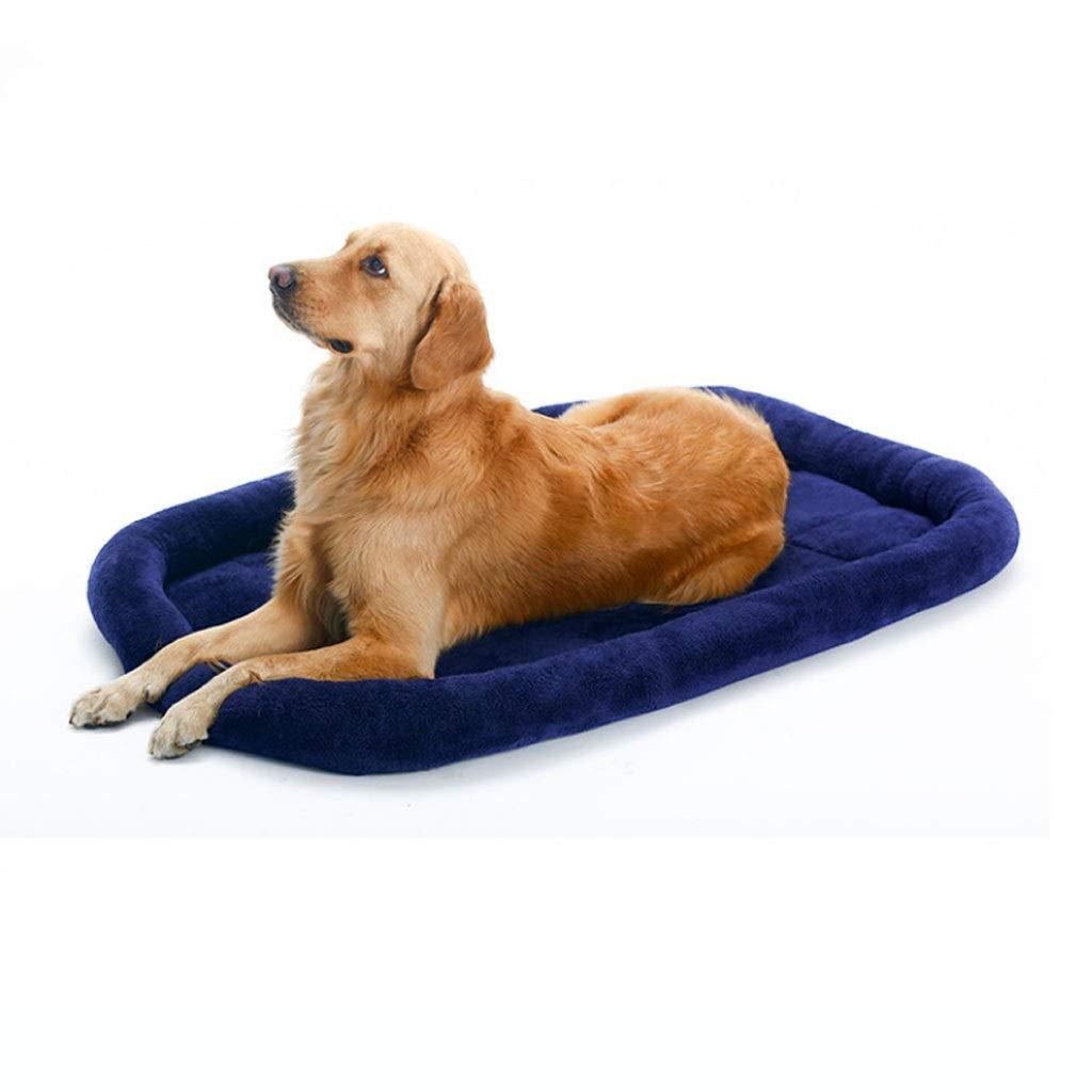 bluee M bluee M Kennel Cashmere Pet Cushion Pet Mat Teddy golden Hair Pet Supplies Small Animal Beds (color   bluee, Size   M)