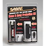 Sabre Combo Home Pepper Foam 2.5 Oz And Away Self Defense Spray 0.54 Oz Protection Kit