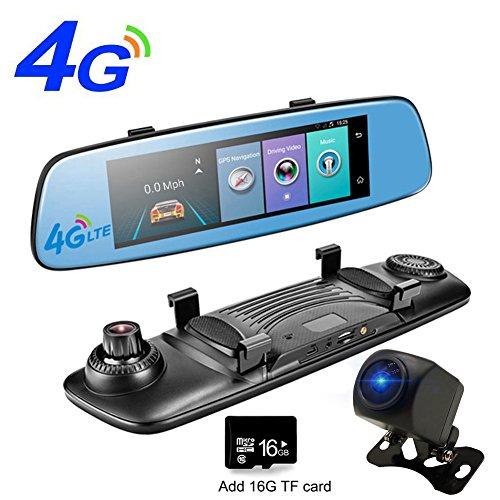 Gps Touch Screen Bluetooth - 4G Car DVR Wifi Mirror Car Camera ADAS GPS Bluetooth Touch Screen Recorder Car Video Mirror Registrar Android Dashcam with 16G TF Card