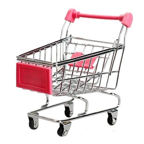 Domybest Multifuncional Mini Carrito de Compra de Supermercado (Rosa): Amazon.es: Hogar