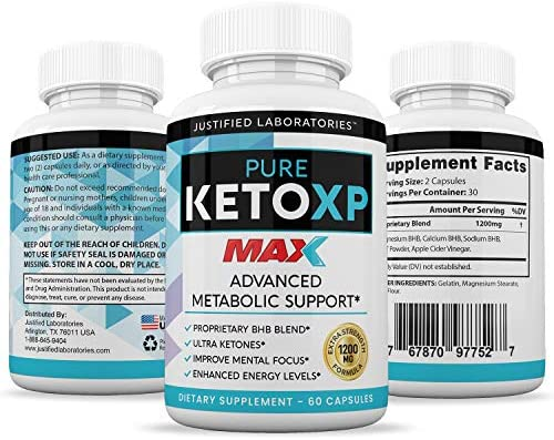 Pure Keto XP Max 1200MG Keto Pills Advanced Ketogenic Supplement Real Exogenous Ketones Ketosis for Men Women 60 Capsules 1 Bottle 6