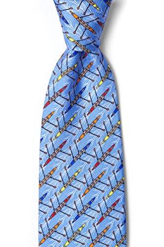 Blue Silk Tie | Crew Necktie (Ties Silk Blue Alynn Novelty)