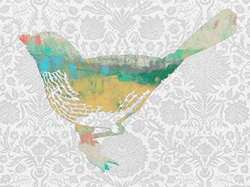 Easy Art Prints Jennifer Goldberger's 'Patterned Bird I' Premium Canvas Art 30 x 40 ()