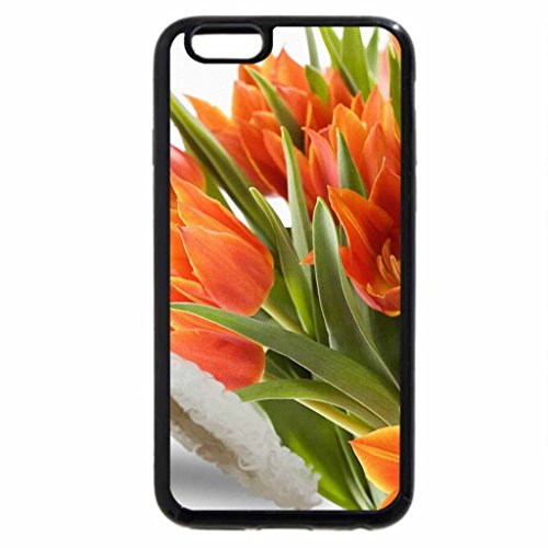 iPhone 6S / iPhone 6 Case (Black) Orange Tulip Spring