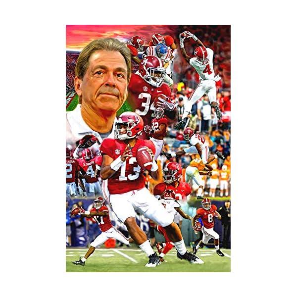 Artist Signed University of Alabama Football Crimson Tide Fine Art Print Poster 11×17 Nick Saban Tua Tagovailoa Football Bama