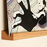 KAIU Vinyl Record Shelf Wall Mount | Easy Installation | Beautiful and Premium Material Made from Solid Oak | Slim and Elegant Design for Your Home | Easily Swap Out Records | Natural