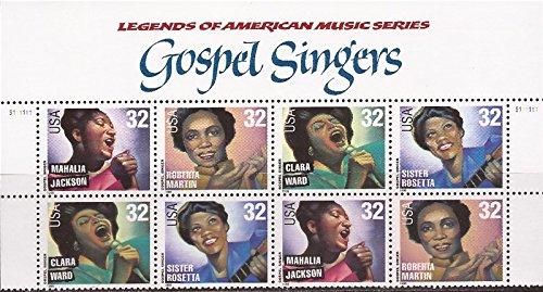 Gospel Singers Full Sheet of 20 32 Cent Stamps Scott 3216-19 (Legend The Best Of Mahalia Jackson)